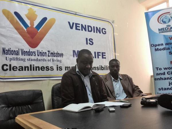 ' Harare Municipal Police, Arrest National Vendors' Union Of Zimbabwe Director Samuel Wadzai'