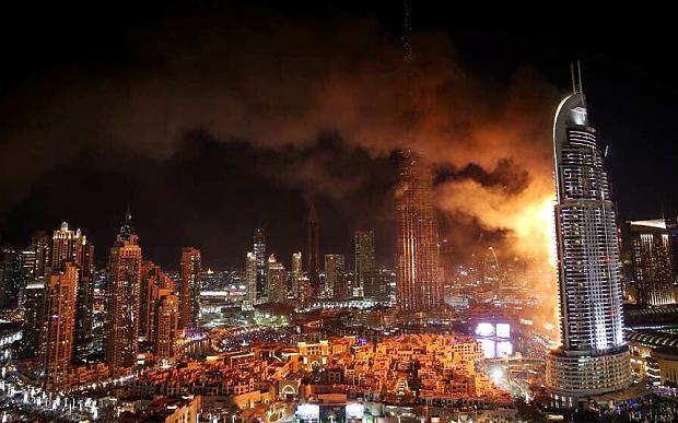 Breaking news: Fire Engulfs The Address Hotel In Dubai, Near World's Tallest Building.
