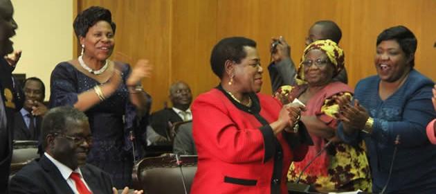 President-of-the-senate-Edna-Madzongwe-being-congratulated-after-elected-president-of-the-senate (1)