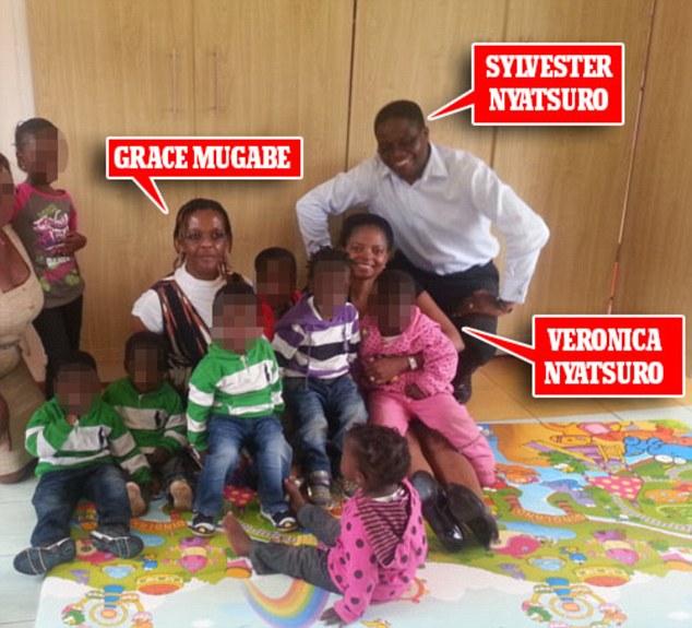 Photograph Shows British Doctor  Sylvester Nyatsuro Smiling With Grace Mugabe