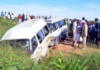 A kombi was yesterday involved in a crash that left 7 including 2 pedestrians injured along Bulawayos Masiyephambili Drive