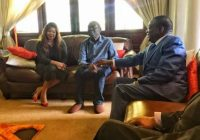 The new Zimbabwe President Emmerson Mnangagwa today took time, along with his Vice President Retired General Constantino Chiwenga to visit the sick MDC T leader, former prime Minister Morgan Tsvangirai at his Highlands home in Harare.