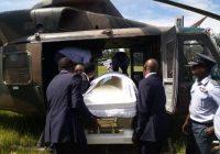 Funeral UPDATE: Tsvangirai's body flown in army chopper from One Commando barracks in Harare to Humanikwa Village, in Buhera for burial tomorrow