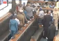 POLICE EJECT OPPOSITION MPS FOR refusing to stand up for President Emmerson Mnangagwa in parliament.